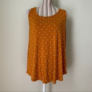 Old Navy Luxe Polka Dot High-Low Shift Tank Rust L